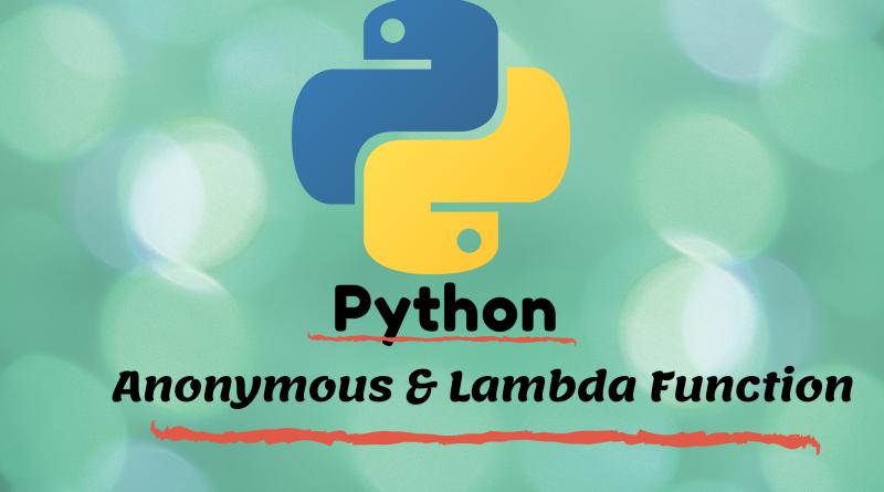 Lambda function in python