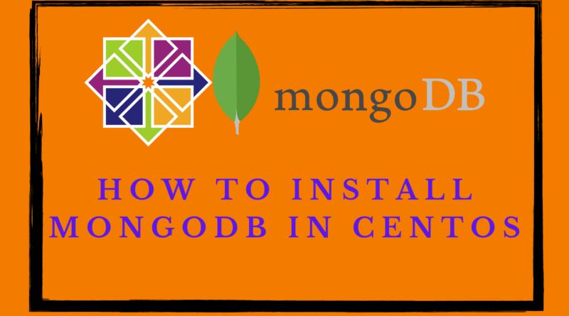 Install MongoDB on CentOS