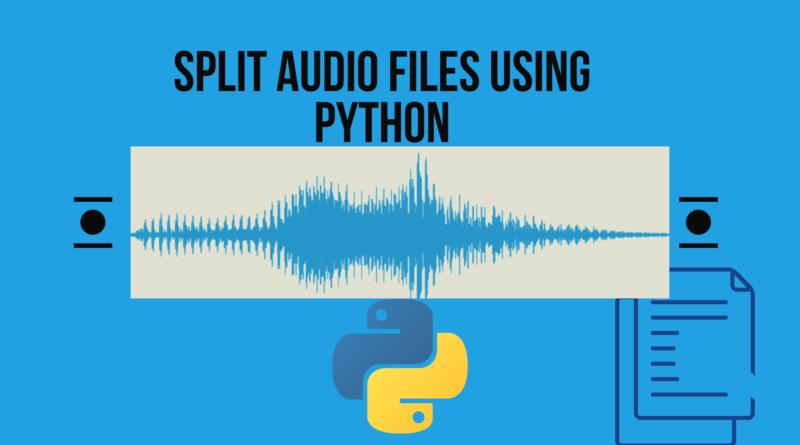 Split audio files using Python
